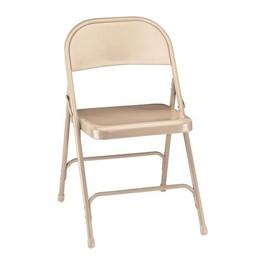 50 Series Steel Folding Chair - Beige