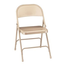 50 Series Steel Folding Chair - Beige
