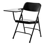 5200 Series Steel Folding Tablet Arm Chair - Black frame w/ gray nebula tablet