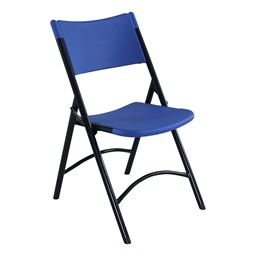 Blow-Molded Folding Chair - Blue