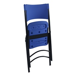 Blow-Molded Folding Chair - Blue - Shown folded