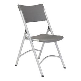 Blow-Molded Folding Chair - Charcoal