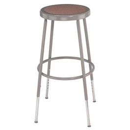 "6200 Stool - Adjustable Height (25"" - 33\"" H) - Gray frame"