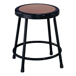 """6200-10 Black Stool - Fixed Height (18\"""" H)"""