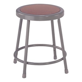 """6200 Stool - Fixed Height (18\"""" H) - Gray frame"""