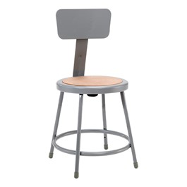 "6200 Stool w/ Backrest - Fixed Height (18"" H)"