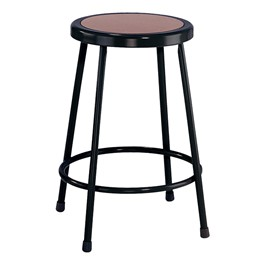 "6200-10 Black Stool - Fixed Height (24"" H)"