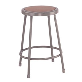 """6200 Stool – Fixed Height (24\"""" H) - Gray frame"""
