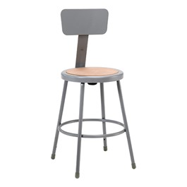 """6200 Stool w/ Backrest - Fixed Height (24\"""" H)"""