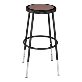 "6200-10 Black Stool - Adjustable Height (25"" - 33\"" H)"