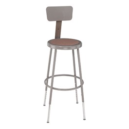 "6200 Stool w/ Backrest – Adjustable Height (25"" - 33\"" H)"