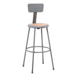 "6200 Stool w/ Backrest – Fixed Height (30"" H)"