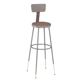 "6200 Stool w/ Backrest - Adjustable Height (31"" - 39\"" H)"