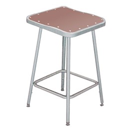 "6300 Square Stool - Fixed Height (18"" H)"