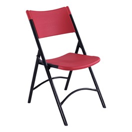 Blow-Molded Folding Chair - Red