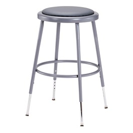 6400 Padded Stool - Adjustable Height
