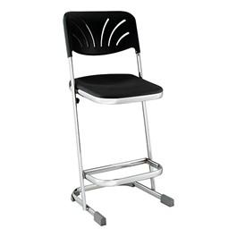 "Z Stool w/ Backrest (24\"" H)"