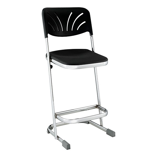 "Z Stool w/ Backrest (24"" H)"