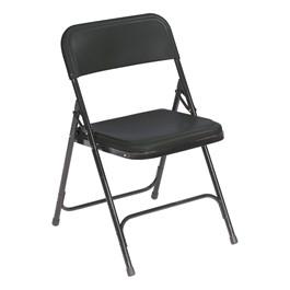 800 Series Plastic Folding Chair - Black
