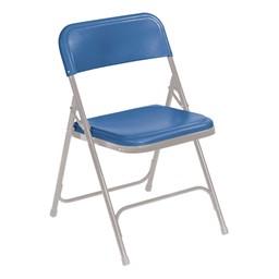 800 Series Plastic Folding Chair - Blue