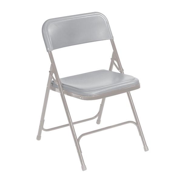 800 Series Plastic Folding Chair - Gray