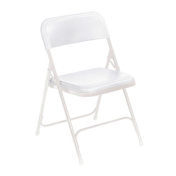 800 Series Plastic Folding Chair - White