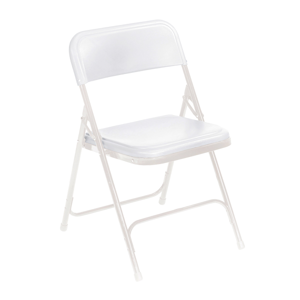 Delicieux ... 800 Series Plastic Folding Chair   White