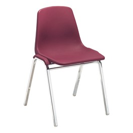 8100 Poly Shell Stackable Chair - Burgundy