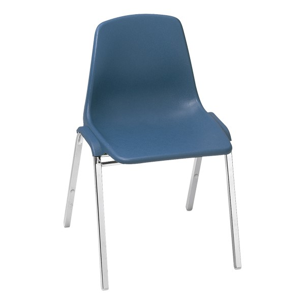 8100 Poly Shell Stackable Chair - Blue