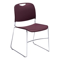 Pack of Forty 8500 Series School Chairs w/ Bonus Dolly - 8500 Series School Chair - Wine