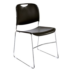 Pack of Forty 8500 Series School Chairs w/ Bonus Dolly - 8500 Series School Chair - Black