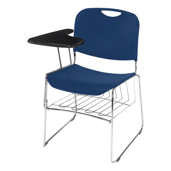 8500 Series Tablet Arm Chair - Shown w/ optional book rack