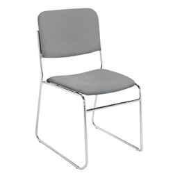 8600 Series Lightweight Stack Chair - Solid gray