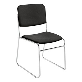 8600 Series Lightweight Stack Chair - Solid black