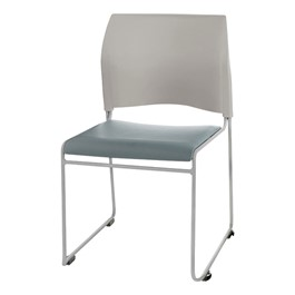 8700 Series Vinyl Stackable Cafeteria Chair - Gray