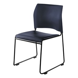 8700 Series Vinyl Stackable Cafeteria Chair - Navy