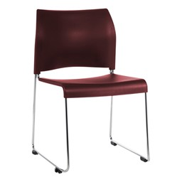 8800 Series Cafetorium Stack Chair - Burgundy