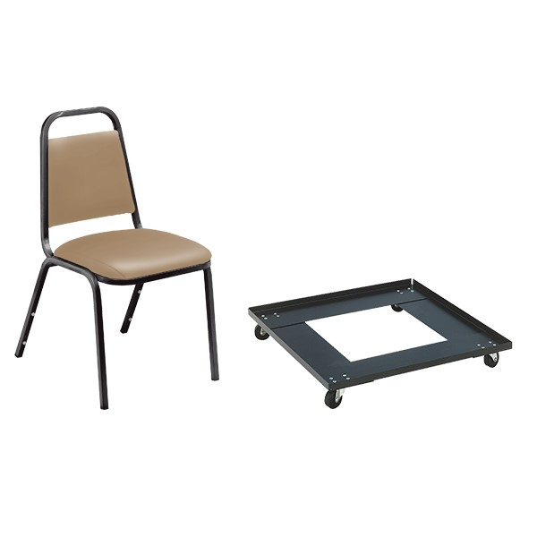 9100 Series Stack Chairs & Dolly Package - Beige