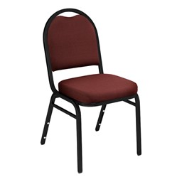 9200 Stack Chair - Fabric Upholstered Seat - Burgundy fabric w/ black frame