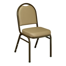 Custom 9200 Series Vinyl Stack Chair - French Beige