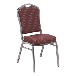 9300 Stack Chair - Burgundy/Silver