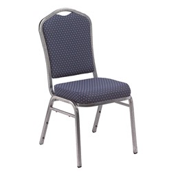 9300 Stack Chair - Navy/Silver