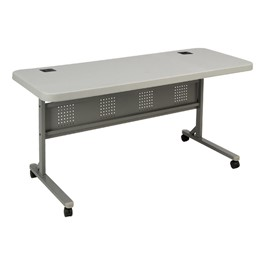 Flip & Store Blow-Mold Table - Gray Top