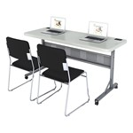 Flip & Store Blow-Mold Table w/ Two 8600 Series Padded Stack Chairs