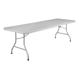 """Lightweight Plastic Top Folding Table (30\"""" W x 96\"""" L)"""