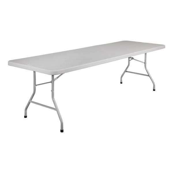 """Lightweight Plastic Top Folding Table (30"""" W x 96"""" L)"""