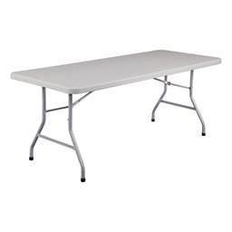 """Lightweight Plastic Top Folding Table (30"""" W x 72"""" L)"""