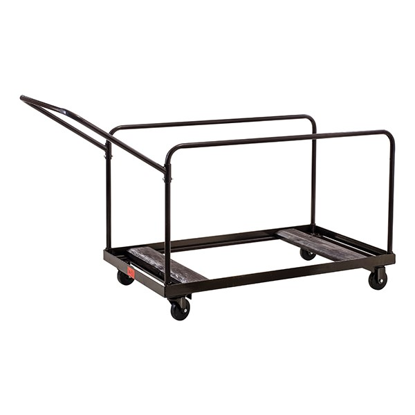 NPS Edge-Stacking Round Folding Table Truck