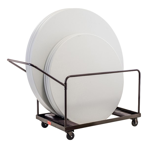 NPS Edge-Stacking Round Folding Table Truck - Tables sold separately