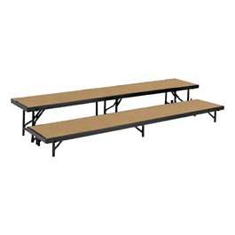 Straight Standing Choral Risers w/ Hardboard Deck - Two Level